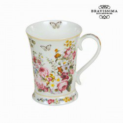 Tasse en porcelaine bloom white - Collection Kitchen's Deco by Bravissima Kitchen