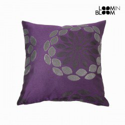 Coussin fresno pourpre by Loomin Bloom