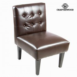 Fauteuil similicuir marron - Collection Relax Retro by Craften Wood