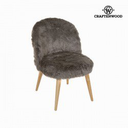 Fauteuil en forme de courbe marron by Craften Wood
