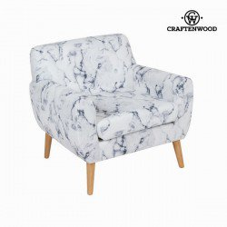 Fauteuil avec accoudoirs marbre by Craften Wood