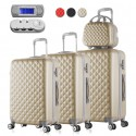 Lot de 3 Valises Diamant Nouvelle Generation + Vanity Case