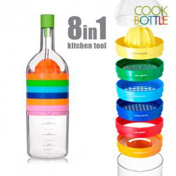 BOUTEILLE MULTI USAGE, COOK BOTTLE 8 EN 1