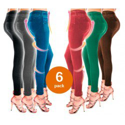 SLIM JEGGINGS AMINCISSANTS COLORS X6 BONPLUS